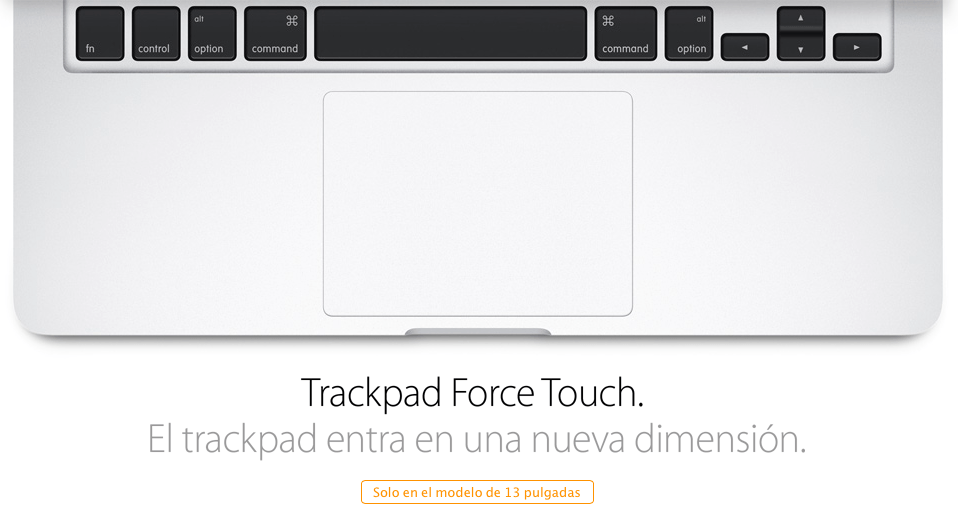 Nuevo Trackpad Force Touch de Apple