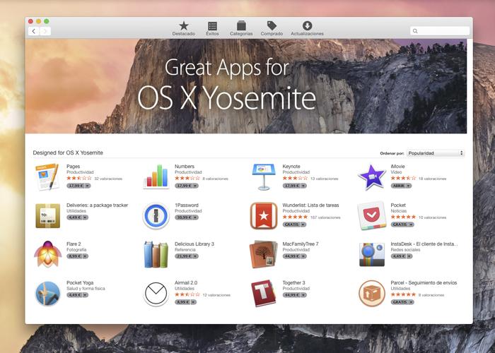 Actualización OS X Yosemite