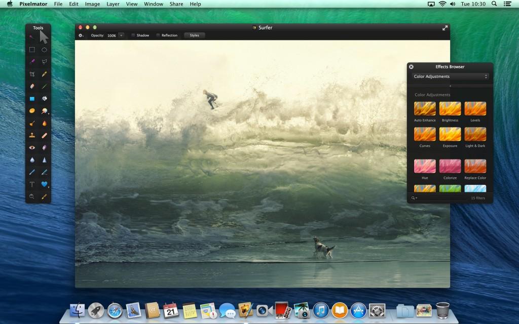 Pixelmator renovado para el nuevo trackpad